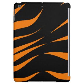 CricketDiane iPad Case Black Orange Zebra