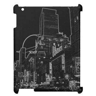 CricketDiane iPad Case NYC City Night Lights B/W