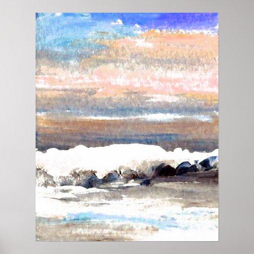 CricketDiane Ocean Poster - Brindle Sea