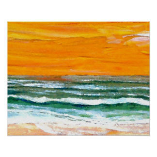 CricketDiane Ocean Poster - Joy Ocean Waves Beach