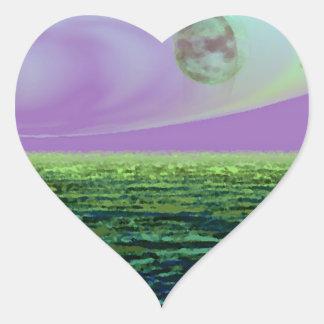 CricketDiane SciFi Art Strange Land World Birth Heart Sticker