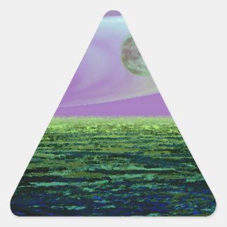 CricketDiane SciFi Art Strange Land World Birth Triangle Sticker