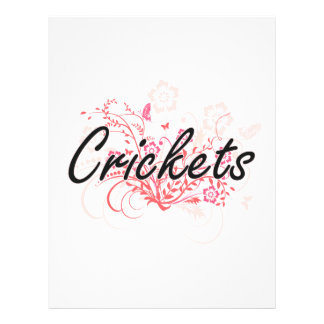 Crickets with flowers background 21.5 cm x 28 cm flyer