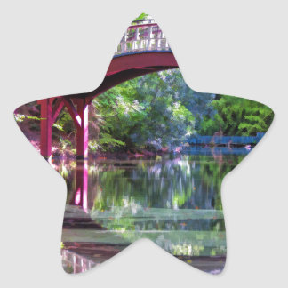 Crim Dell Bridge William and Mary College Star Sticker