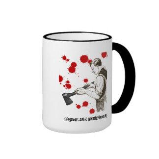 Crime and punishment ringer mug