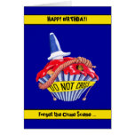 Crime Scene Cupcake Birthday Card