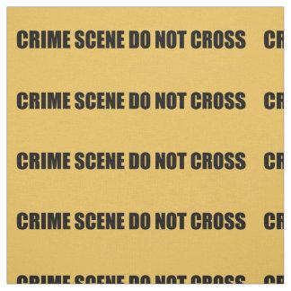 Crime Scene Do Not Cross Novelty Fabric
