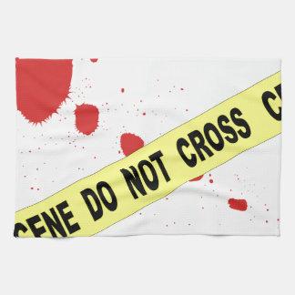 Crime Scene Do Not Cross Tea Towel
