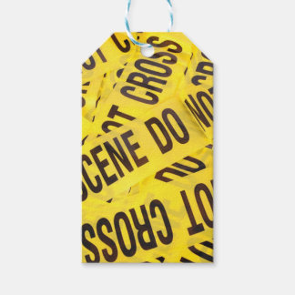 Crime scene gift tags
