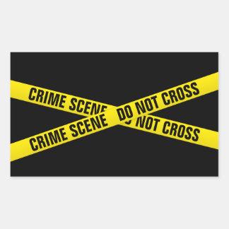 Crime scene rectangular sticker