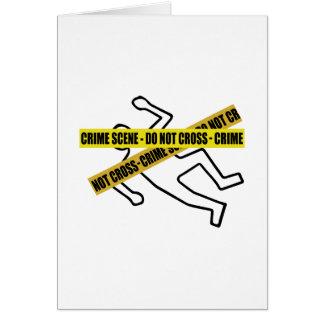 Crime Scene Tape Greeting Card