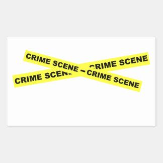 Crime Scene Tape Rectangular Sticker