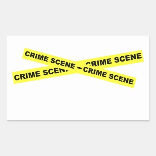 Crime Scene Tape Rectangle Stickers