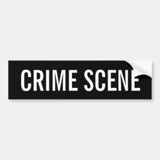 CRIME SCENE - White Logo Emblem Bumper Sticker