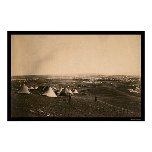 Crimean War Camps and the Light Brigade 1855 Posters