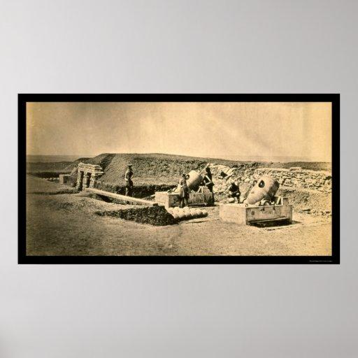Crimean War Mortar Battery 1855 Print