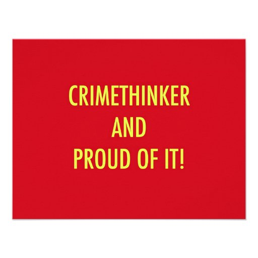 crimethinker and proud of it personalized invitation