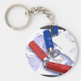 Criminal Intent Basic Round Button Key Ring