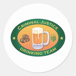 Criminal Justice Drinking Team Sticker