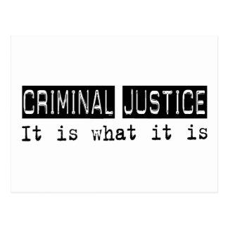 Criminal Justice It Is Postcard