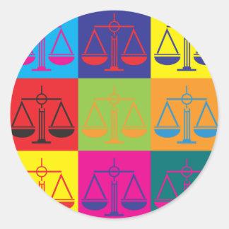 Criminal Justice Pop Art Round Sticker