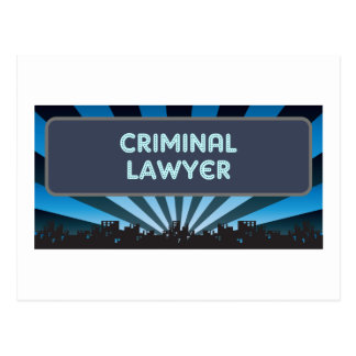 Criminal Lawyer Marquee Postcard