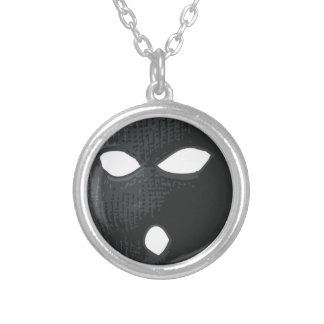 criminal-mask silver plated necklace