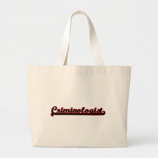 Criminologist Classic Job Design Jumbo Tote Bag