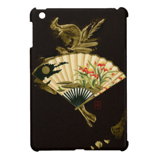 Crimped Oriental Fan with Floral Design Case For The iPad Mini