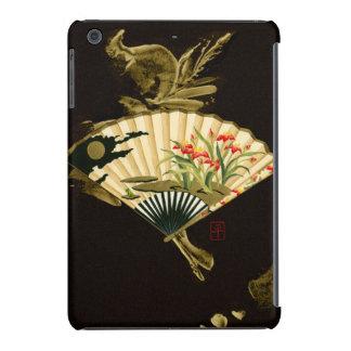 Crimped Oriental Fan with Floral Design iPad Mini Retina Cover