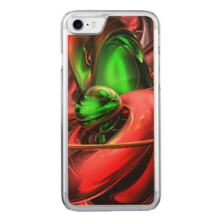 Crimson Affection Abstract Carved iPhone 8/7 Case