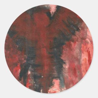 Crimson Angel Of Pain. Round Sticker