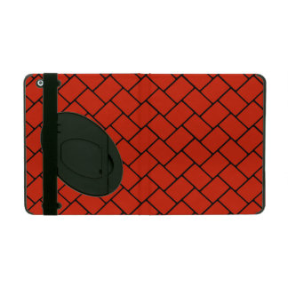 Crimson Basket Weave 2 iPad Cover
