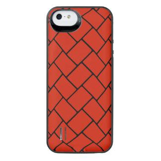 Crimson Basket Weave 2 iPhone SE/5/5s Battery Case