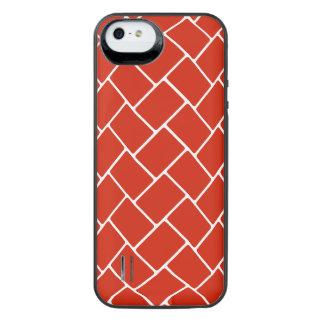 Crimson Basket Weave iPhone SE/5/5s Battery Case
