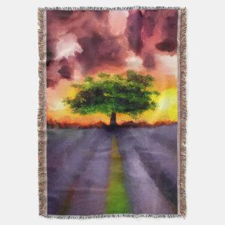 Crimson Clouds Throw Blanket
