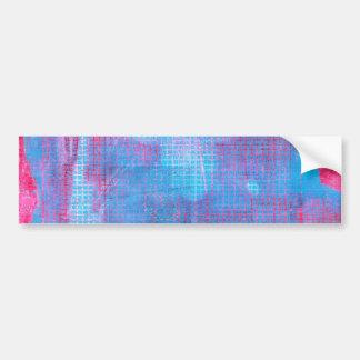 Crimson Clover Abstract Art Fuschia Pink Blue Bumper Sticker