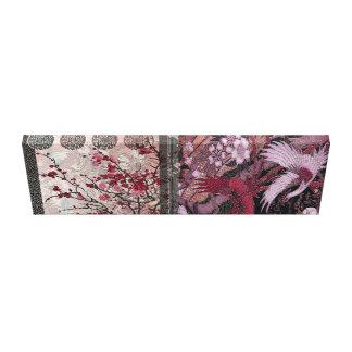 Crimson Crane Blossom Canvas Print