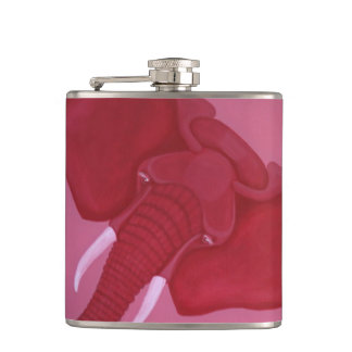 Crimson Elephant Flask
