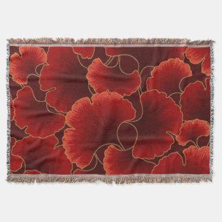 Crimson Floral Throw