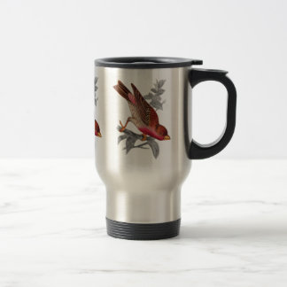 Crimson Fronted Finch Travel Mug