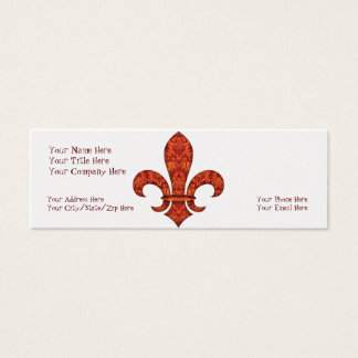 Crimson Garden Fleur de lis Mini Business Card