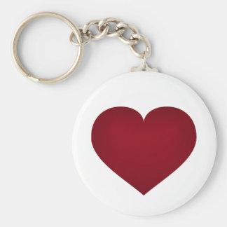 Crimson heart key ring