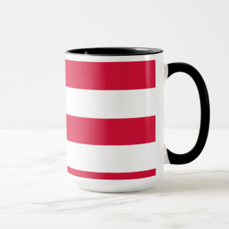 Crimson Horizontal Stripes; Striped