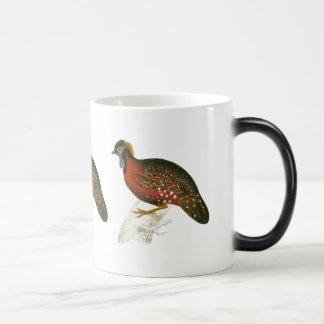 Crimson Horned Pheasant Magic Mug
