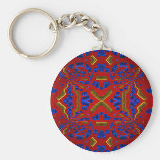 Crimson Kaleidoscope Tunnel Key Chains