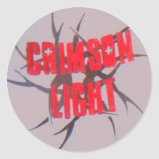 crimson light round sticker