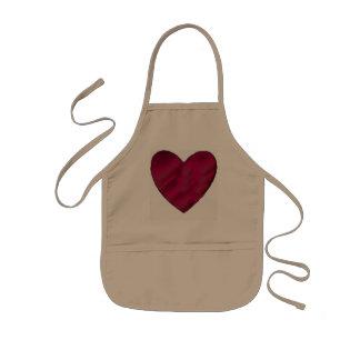 Crimson Love Heart Kids Apron