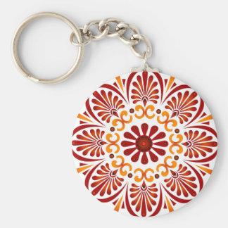 Crimson Mandala Keychain