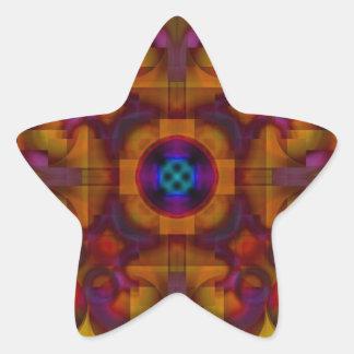 Crimson Mantra 4 Hot Abstract Star Sticker